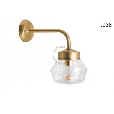 Wall lamp / sconce brass light.o.101.go.glass036 Zangra