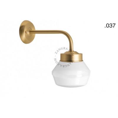 Lampa ścienna / kinkiet mosiężny light.o.101.go.glass037 Zangra