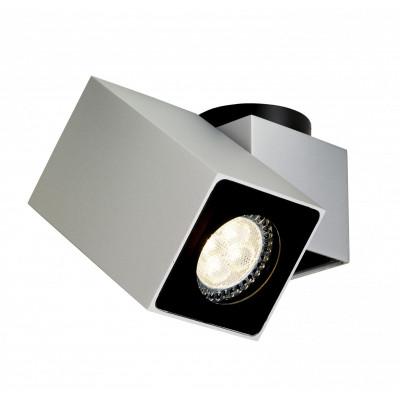Squar I oprawa stropowa natynkowa srebrna | biała