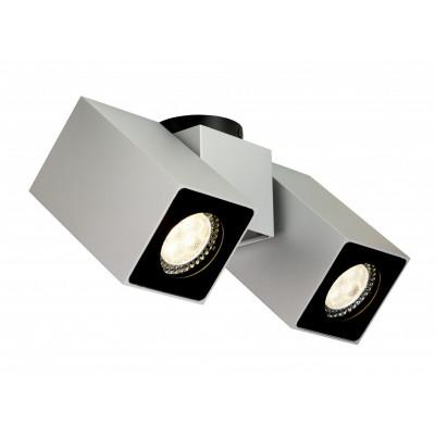 Squar II oprawa stropowa natynkowa srebrna   biała