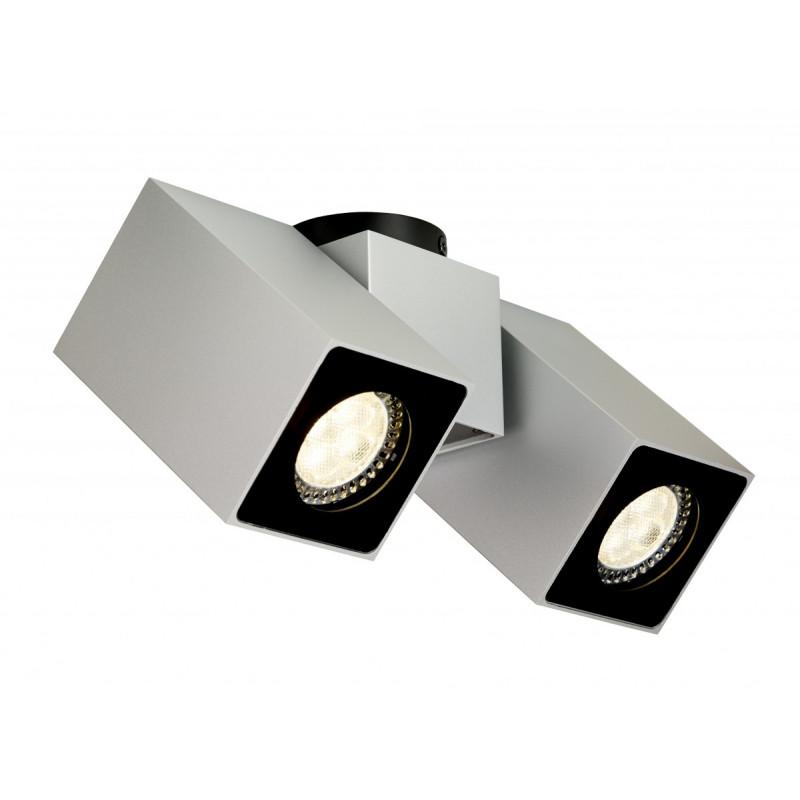 Squar II oprawa stropowa natynkowa srebrna | biała