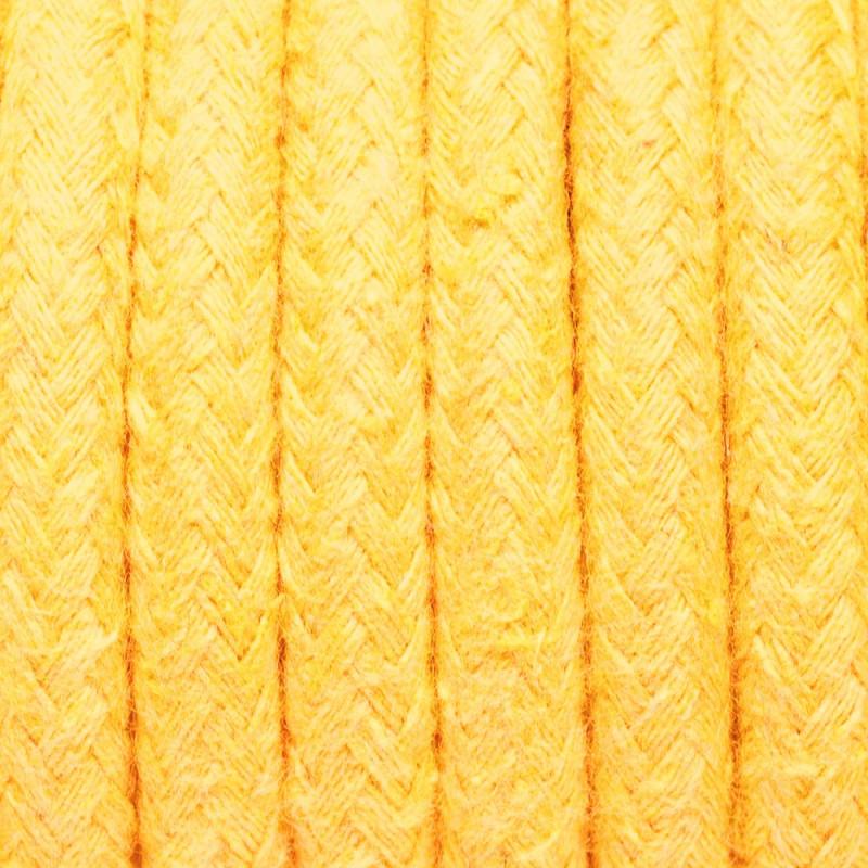 Kabel w oplocie bawełnianym B05 żółty agat dwużyłowy 2x0.75