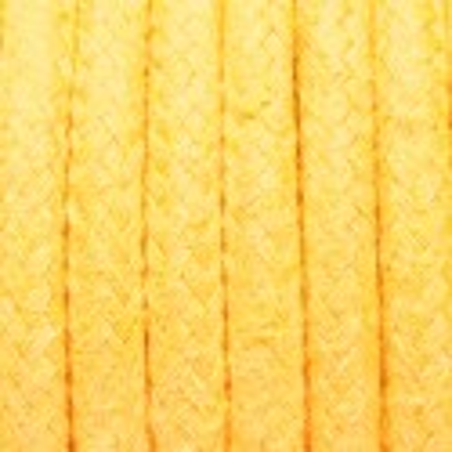 Żółty kabel w oplocie bawełnianym B05 żółty agat dwużyłowy 2x0.75 Kolorowe Kable