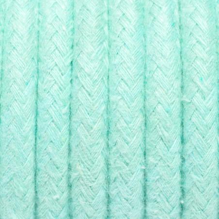 Kabel w oplocie bawełnianym B07 miętowy marmur dwużyłowy 2x0.75 Kolorowe Kable