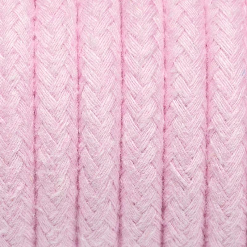 Kabel w oplocie bawełnianym B08 różowy kwarc dwużyłowy 2x0.75