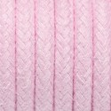 Round electric cable covered by cotton B08 Pink quartz 2x0.75