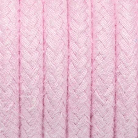 Różowy kabel w oplocie bawełnianym B08 różowy kwarc dwużyłowy 2x0.75 Kolorowe Kable