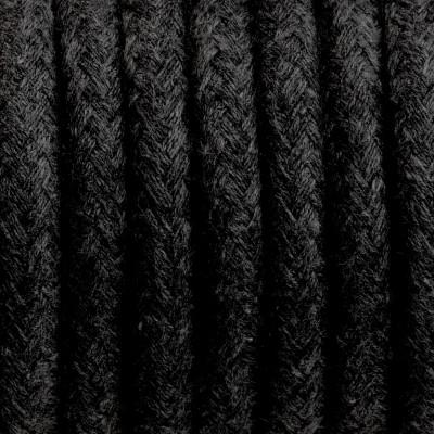 Kabel w oplocie bawełnianym B04 węgiel kamienny dwużyłowy 2x0.75