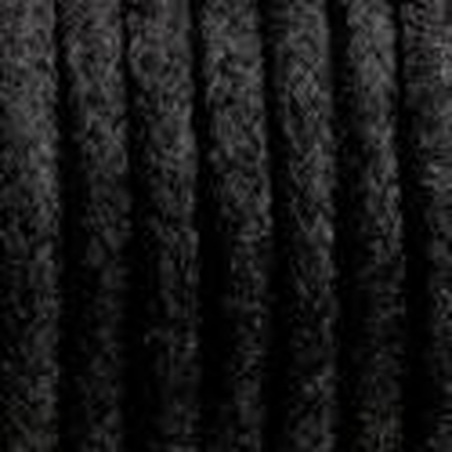 Czarny kabel w oplocie bawełnianym B04 węgiel kamienny dwużyłowy 2x0.75 Kolorowe Kable