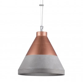 Craft XL Concrete Pendant Lamp Copper UP