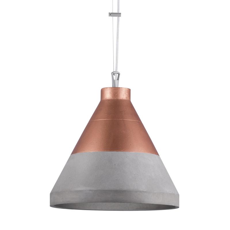 Craft XL beton/miedź na górze lampa wisząca