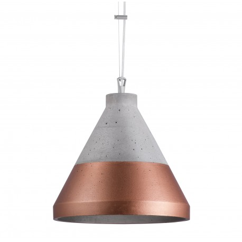 Craft XL beton/miedź na dole lampa wisząca