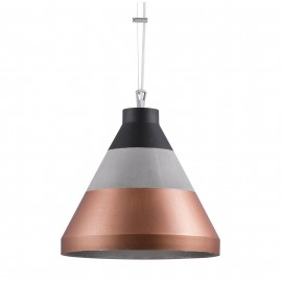 Craft XL beton/czarny/miedź lampa wisząca