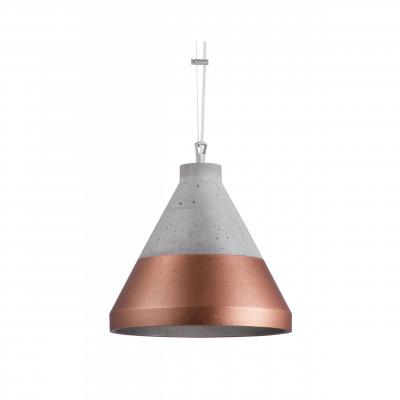 Craft S beton/miedź na dole lampa wisząca