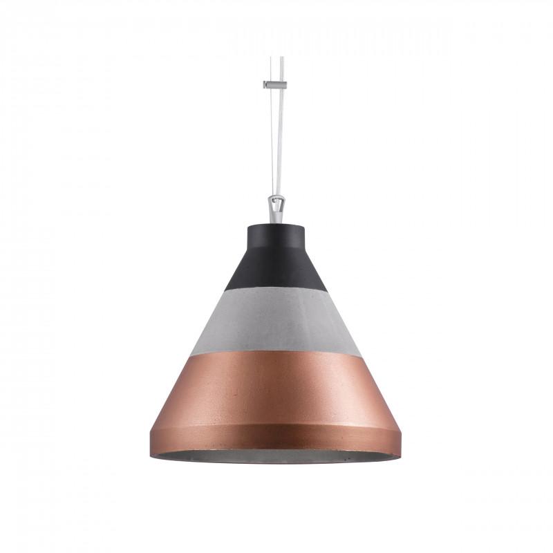 Craft S beton/czarny/miedź lampa wisząca