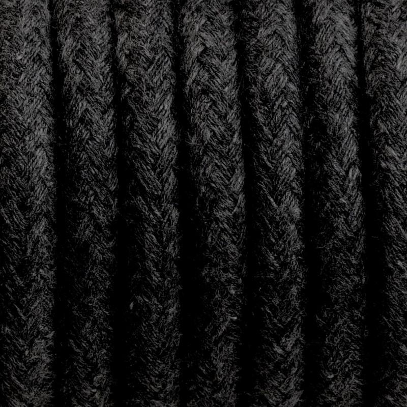 Kabel w oplocie bawełnianym B04 węgiel kamienny trzyżyłowy 3x0.75