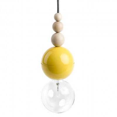 Loft Bala Żółta lampa wisząca
