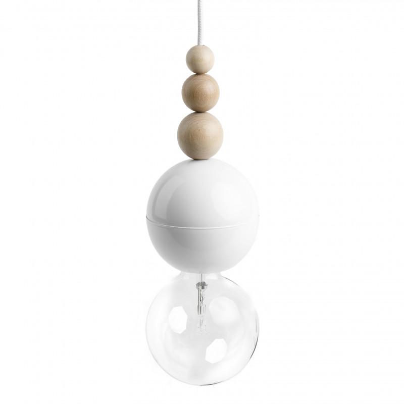 Loft Bala biała lampa wisząca