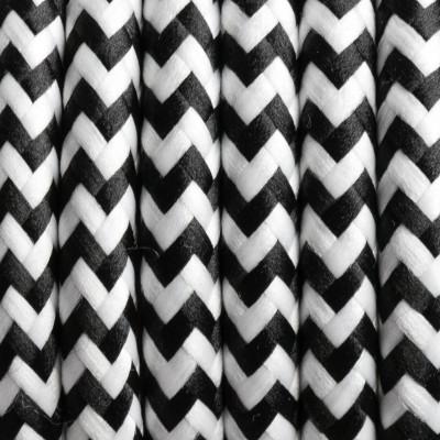 Kabel w oplocie poliestrowym 29 zebra pręgowana dwużyłowy 2x0.75