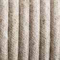 Round electric cable covered by Natural linen L01 2x0.75