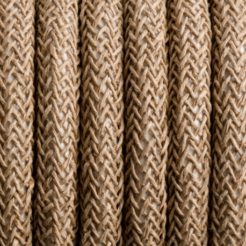 Kabel w oplocie jutowym J01 dwużyłowy 2x0.75