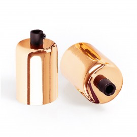 Lamp holder copper finish E27