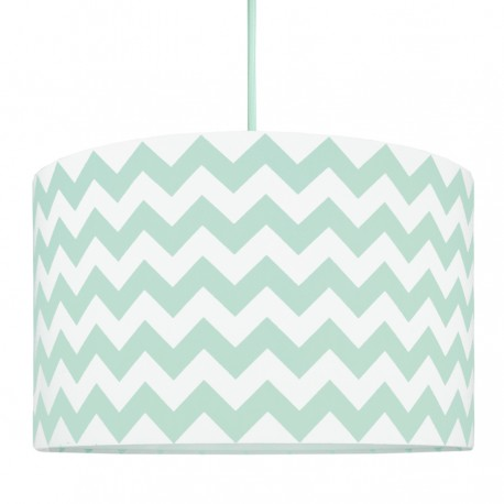 Chevron mint Lampshade Ø40cm