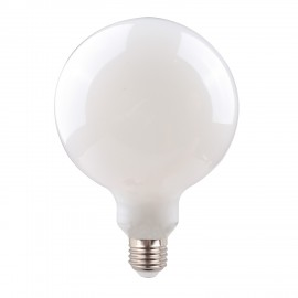 Milky decorative eco LED light bulb 125mm 6W