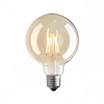 Decorative eco Vintage Amber LED light bulb 95mm 4W