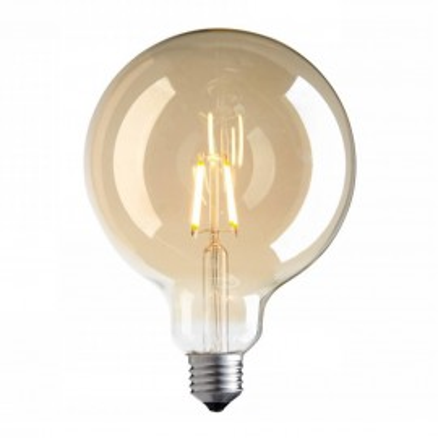 Decorative eco Vintage Amber LED light bulb 125mm 4W