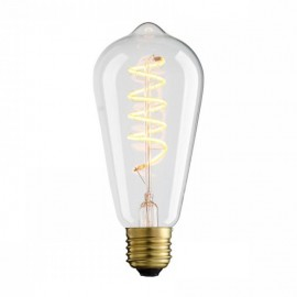 Decorative eco VINTAGE LED SPIRAL light bulb ST64 65mm 4W