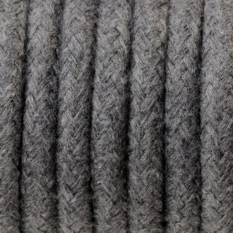 Kabel w oplocie bawełnianym B03 bazaltowy pył dwużyłowy 2x0.75
