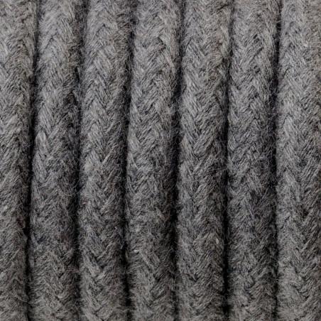 Ciemnoszary kabel w oplocie bawełnianym B03 bazaltowy pył trzyżyłowy 3x0.75 Kolorowe Kable