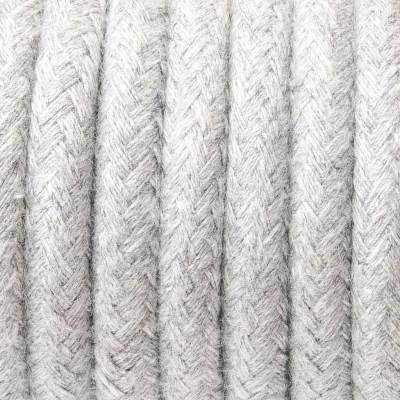 Kabel w oplocie bawełnianym B02 srebrzysta skała dwużyłowy 2x0.75