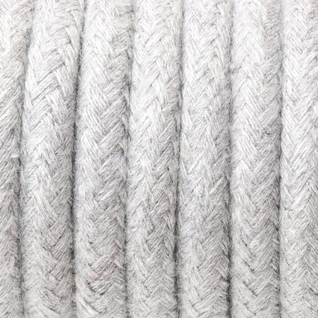 Jasnoszary kabel w oplocie bawełnianym B02 srebrzysta skała trzyżyłowy 3x0.75 Kolorowe Kable
