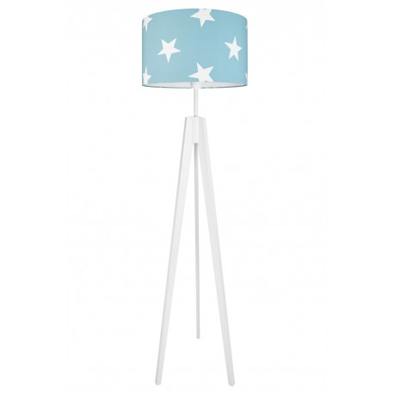 Lampa podłogowa gwiazdy na turkusowym