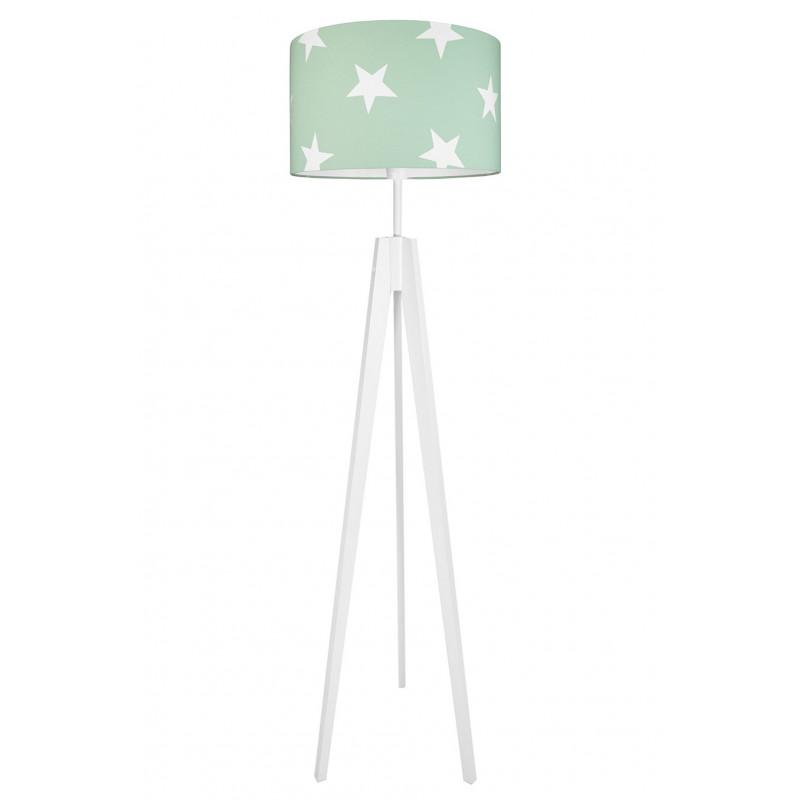 Lampa podłogowa gwiazdy na miętowym