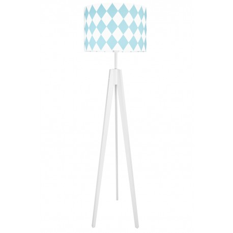 Turquoise Diamonds Floor Lamp