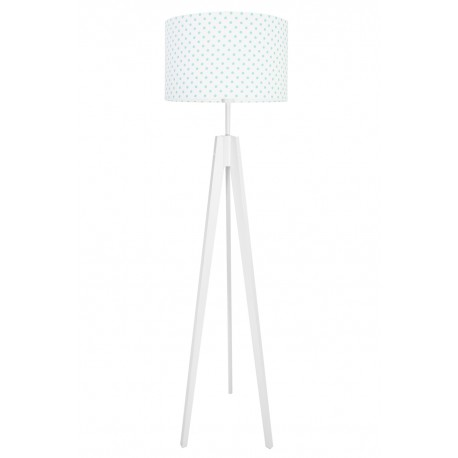 Turquoise Dots Floor Lamp