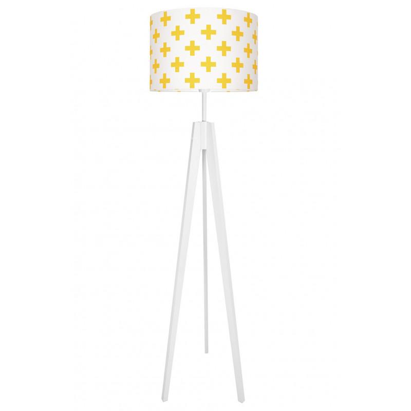 Lampa podłogowa krzyżyki żółte