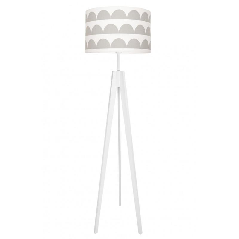 Grey Half-Moons Floor Lamp