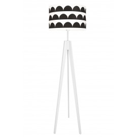 Black Half-Moons Floor Lamp
