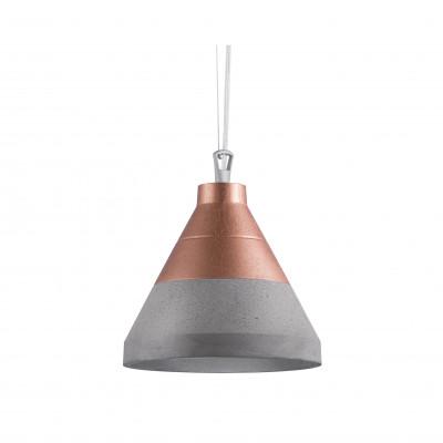 Craft S beton/miedź na górze lampa wisząca