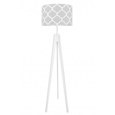Grey Moroccan Clover Floor Lamp