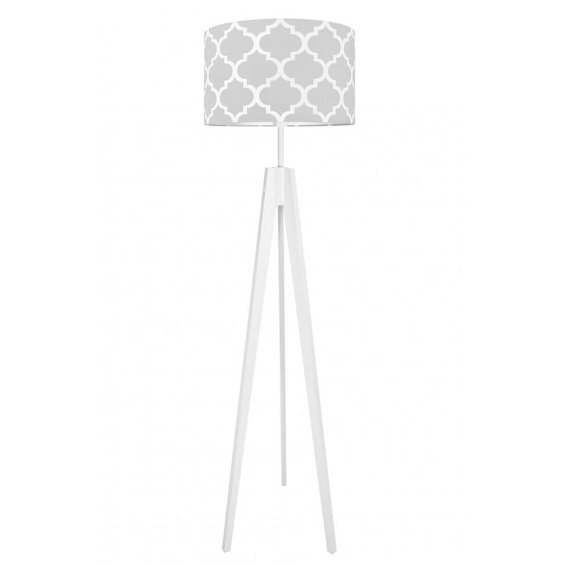 Lampa podłogowa koniczyna marokańska szara