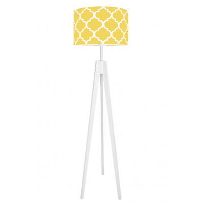 Yellow Moroccan Clover Floor Lamp