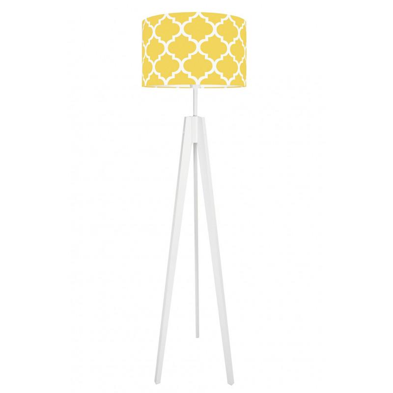 Lampa podłogowa koniczyna marokańska żółta