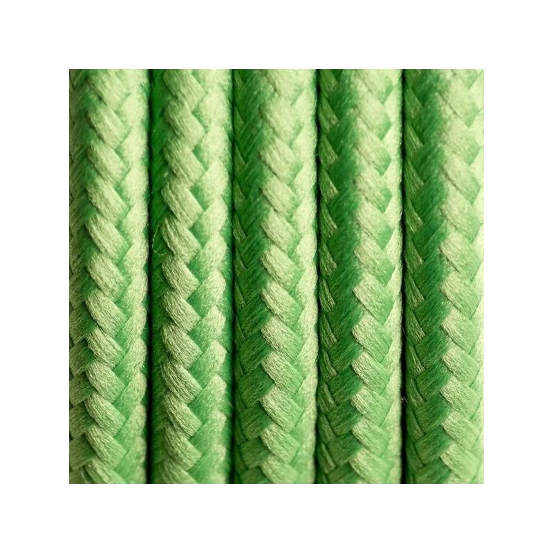 Kabel w oplocie poliestrowym 09 zielona koniczyna dwużyłowy 2x0.75