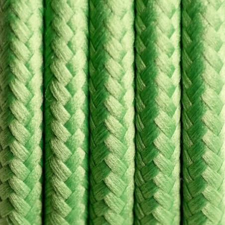 Kabel silikonowy w oplocie poliestrowym 09 zielona koniczyna dwużyłowy 2x0.75