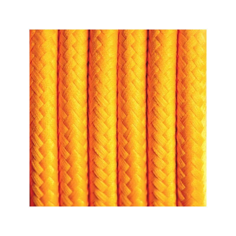 Kabel w oplocie poliestrowym 02 karaibski grejpfrut dwużyłowy 2x0.75